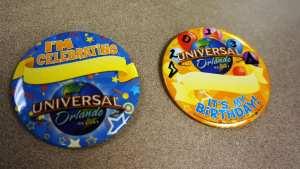 universal orlando birthday buttons
