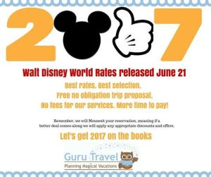 2017 Walt Disney World Rates