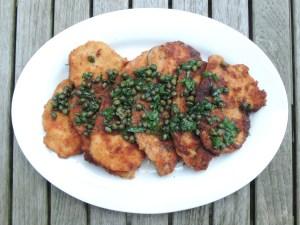 Chicken, sauteed chicken cutlets, schnitzel 1