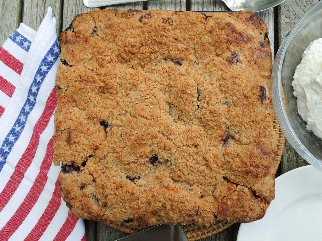 Desserts, fruit, baked, blueberry buckle 1