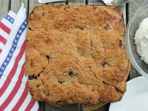 Desserts, fruit, baked, blueberry buckle 1