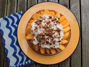 Desserts, fruit, baked, peach shortcake 1