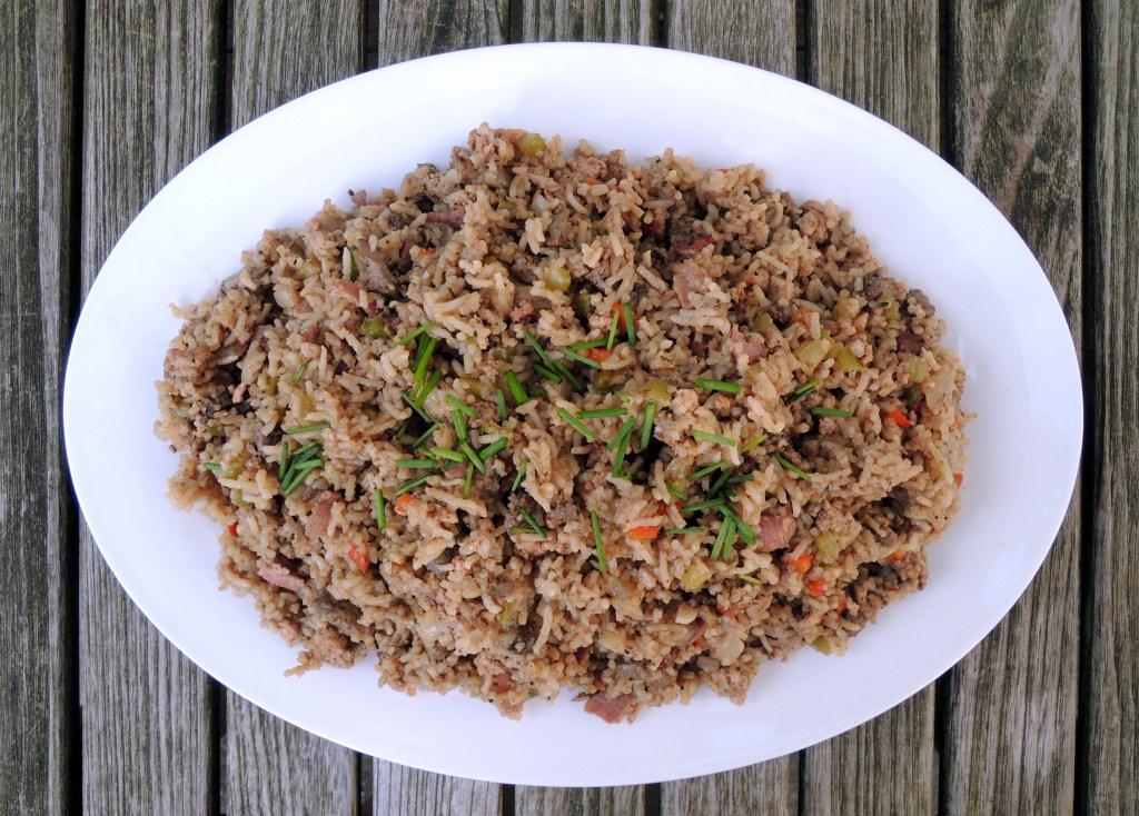 Rice, white rice, bayou dirty rice 1