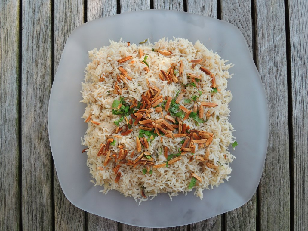 Rice, white rice, pilaf with Indian spices 1