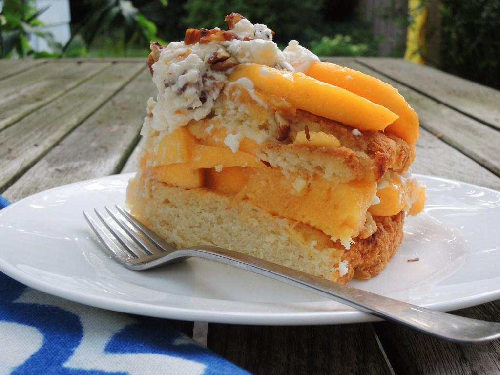 Desserts, fruit, baked, peach shortcake 4