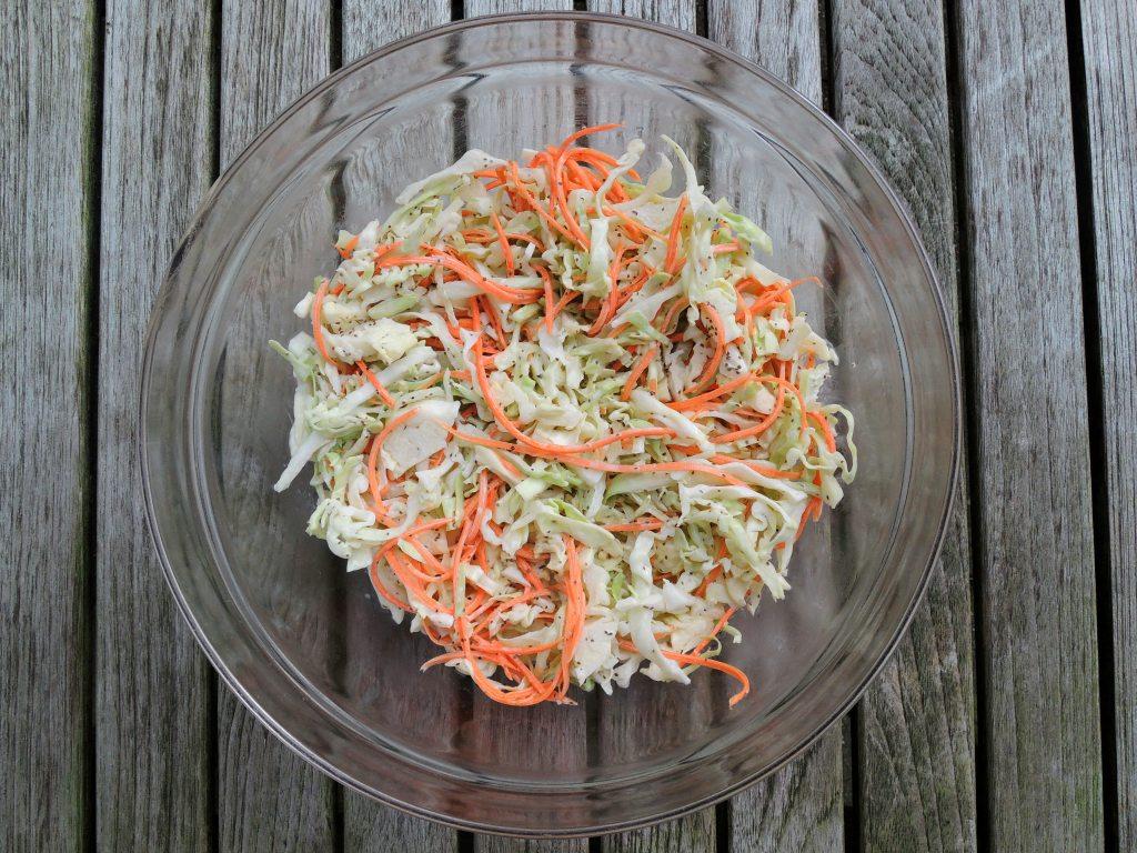 Salads, slaw, coleslaw, Tidewater coleslaw (Virginia) 1