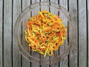 Salads, slaw, mango 1