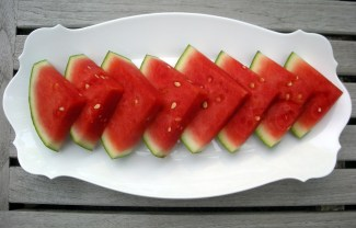 Desserts, fruit, fresh, watermelon wedges soaked in tequila 1