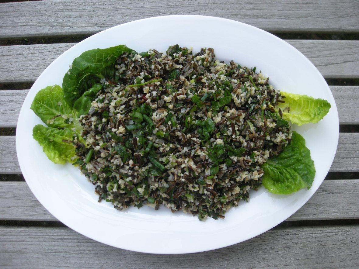 Rice, wild rice tabbouleh 1