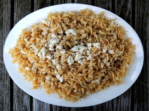 Pasta, egg noodles with brown butter and feta 1