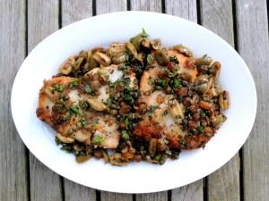 Fish, swordfish, pan-grilled swordfish steaks stemperata 1