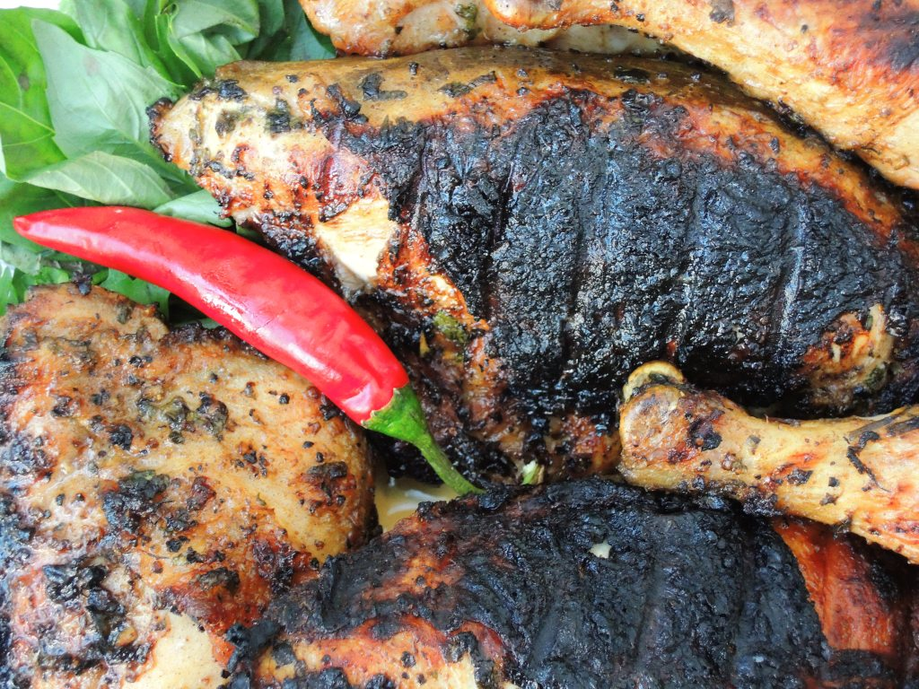 Chicken, grilled chicken with Thai sweet and sour dipping sauce (gai yang) 2