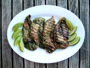 Chicken, sauteed chicken cutlets with Thai herbs 1 (2)