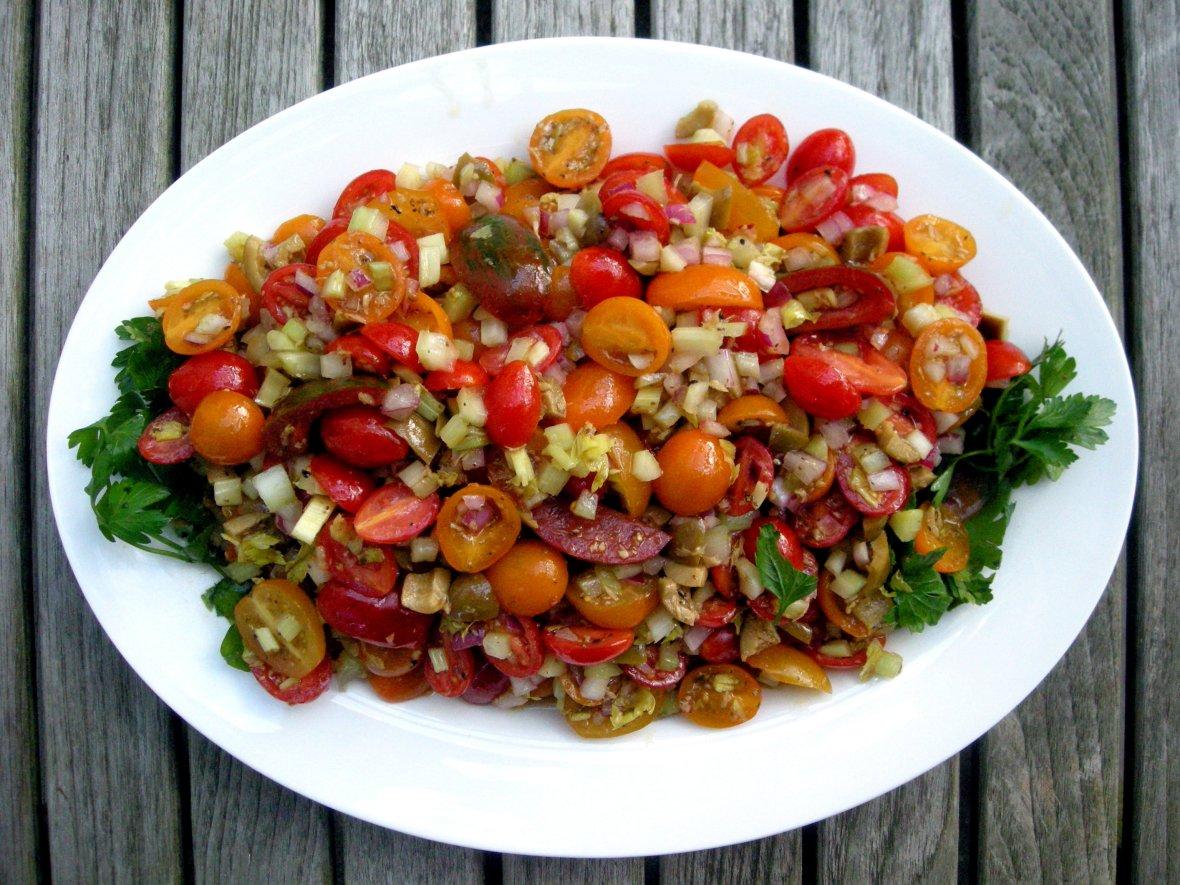 Salads, tomato, bloody mary tomato salad 1