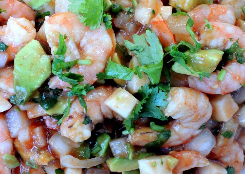 Appetizers, ceviche de camaron (with shrimp) 3