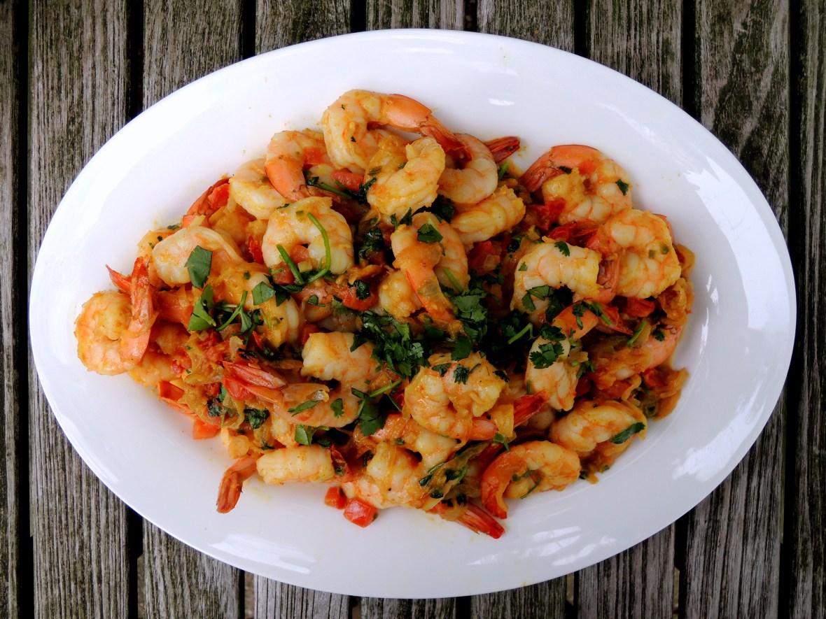 Shrimp, braised, shrimp do piaza 1