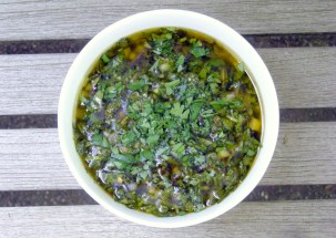 Condiments, herb sauces, chimichurri sauce (green) 1
