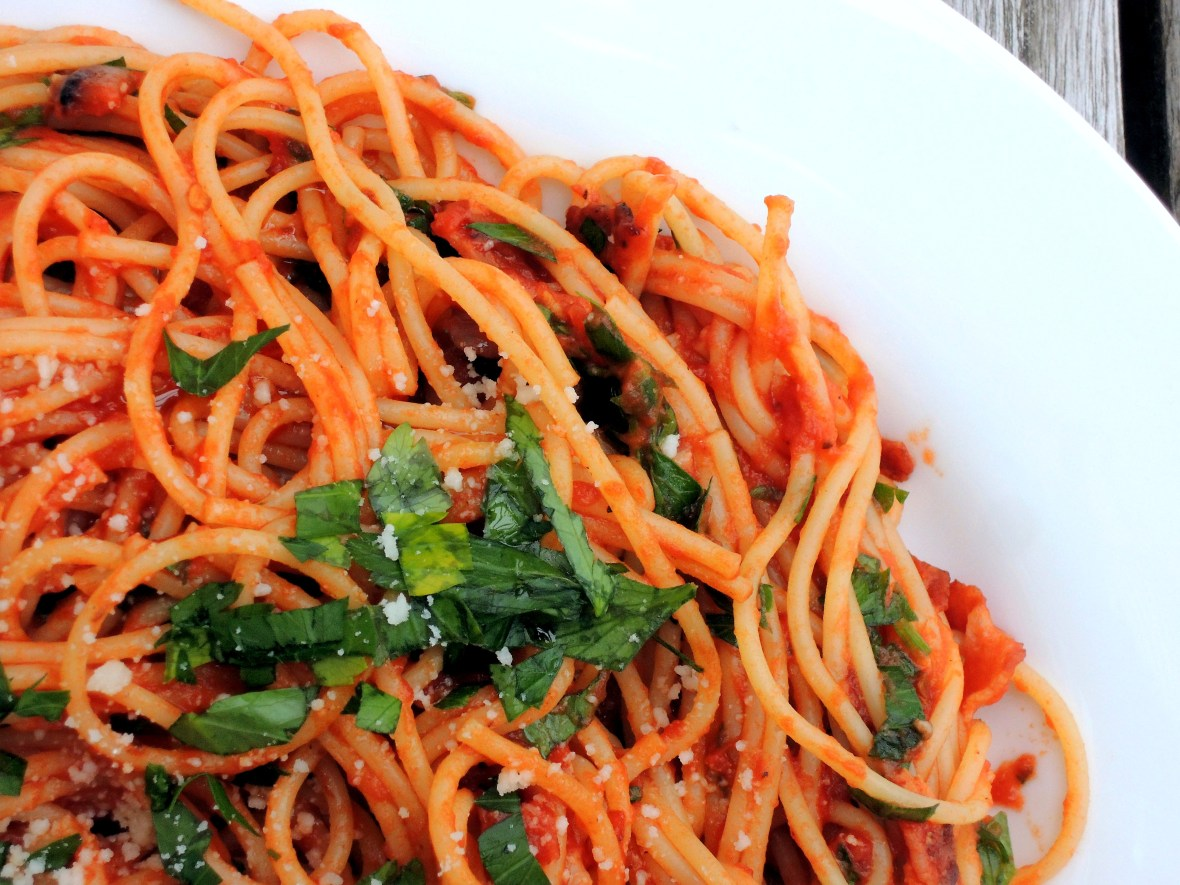 Pasta, spaghetti all'Amatriciana 2
