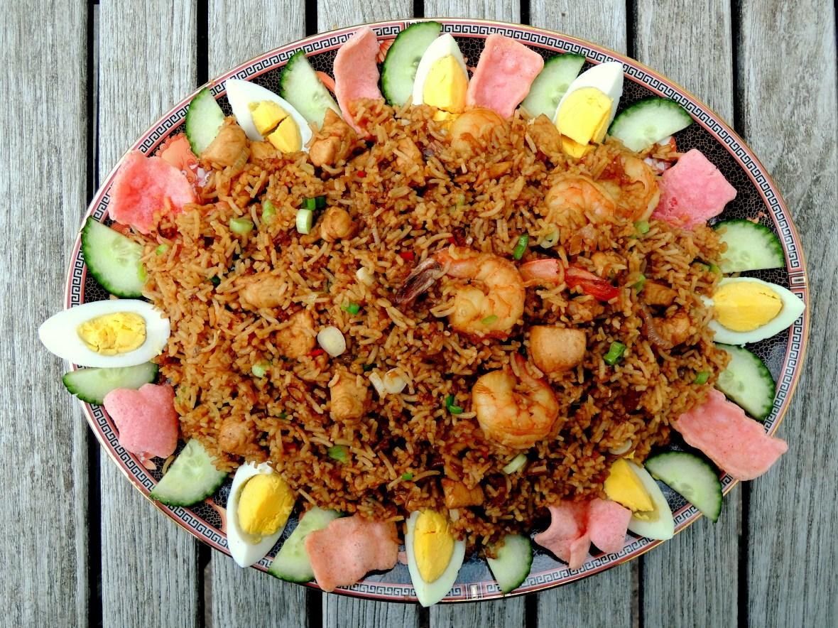 Rice, fried rice, nasi goreng (Indonesian fried rice) 1