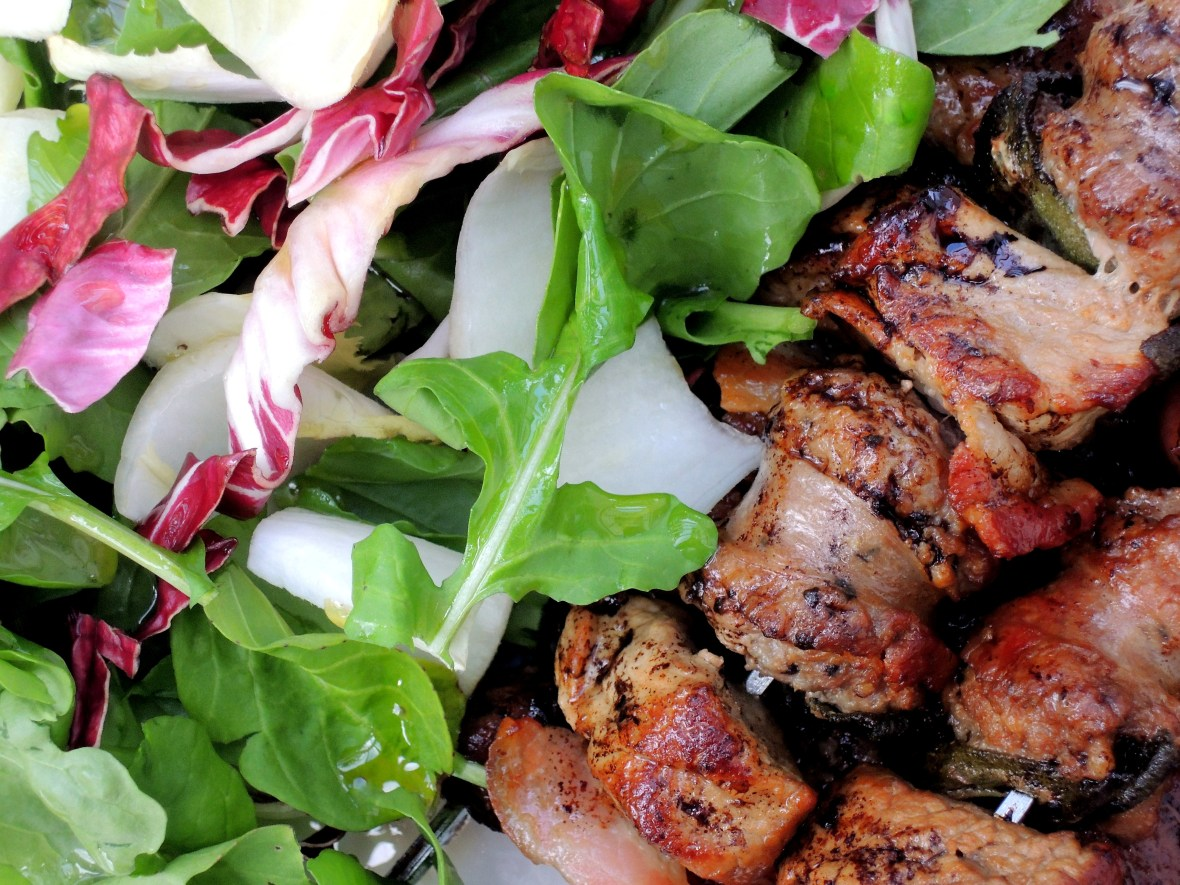 Kebabs, spiedini all'uccelletto (veal, sage and sausage skewers) 3
