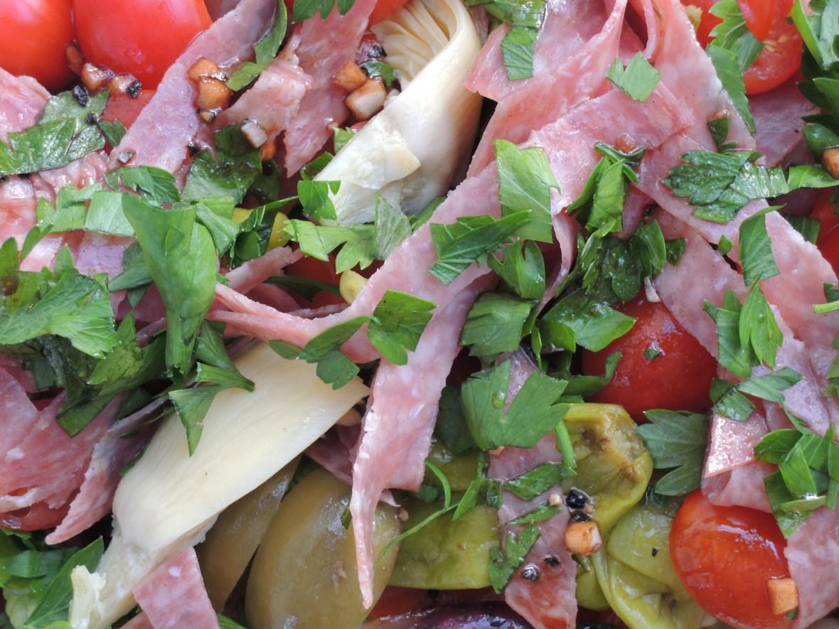 Salads, vegetable, antipasto salad 2