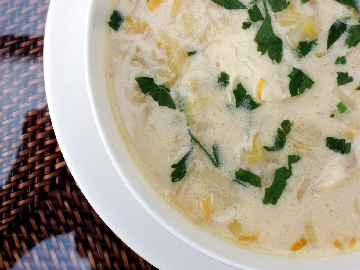 Soups, chowders, New England fish chowder 2