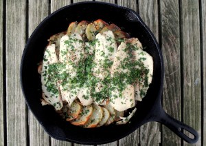 Fish, tilapia, baked tilapia fillets with potatoes, oregano and white wine 1