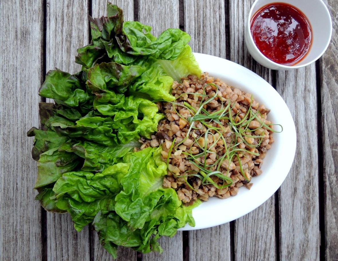 Appetizers, lettuce wraps, chicken soong 1