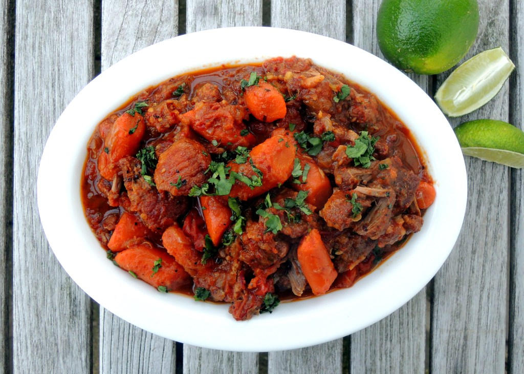 Pork, stews, Yucatan pork stew with ancho chiles and lime juice 1