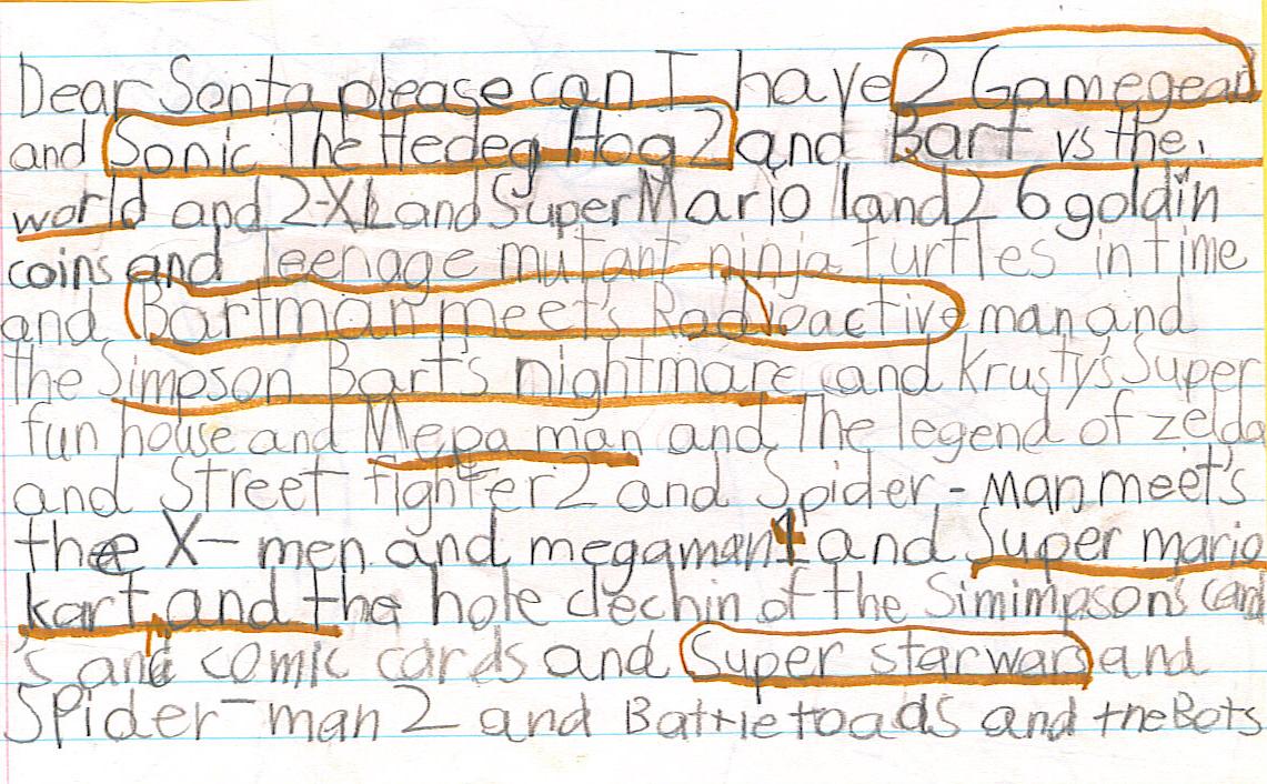 New York, Dobbs Ferry, Dear Santa.... 1994