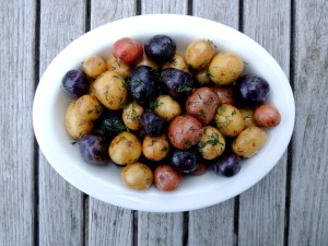 Vegetables, potatoes, steamed new potatoes, Norwegian smordampete nypoteter (butter steamed) 1