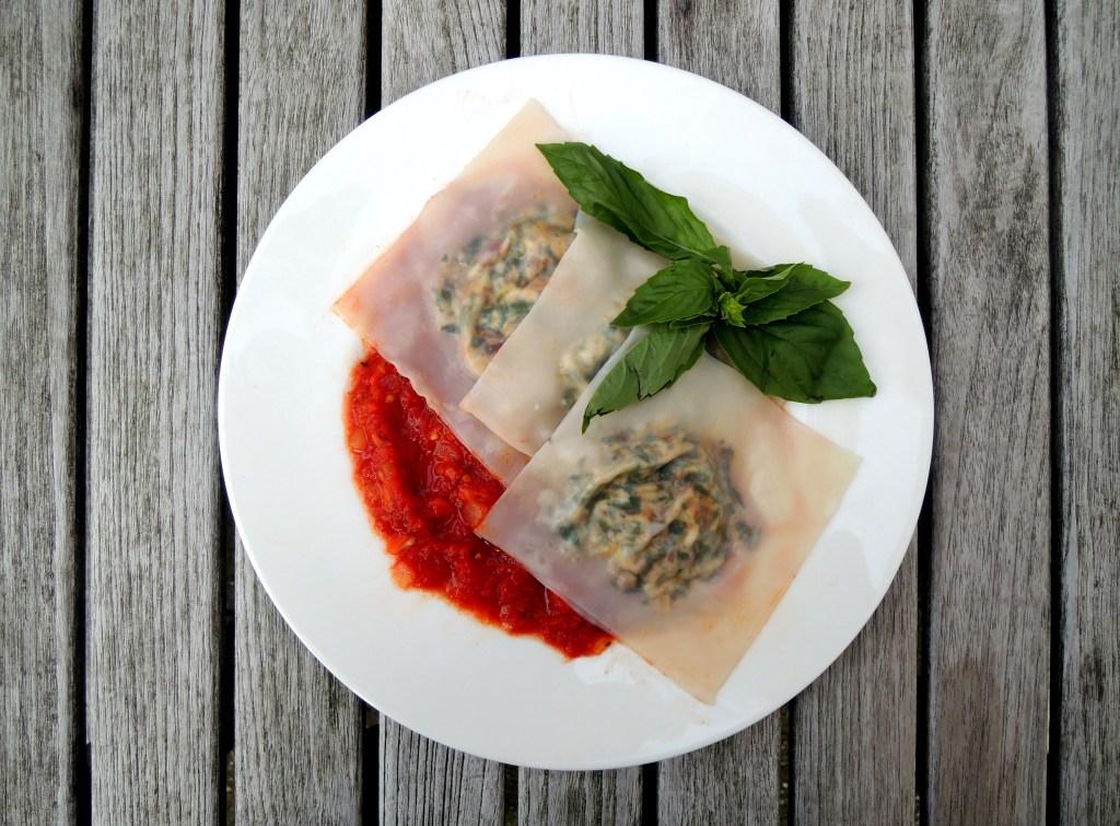 pasta, ravioli with bacon, ricotta and swiss chard 1