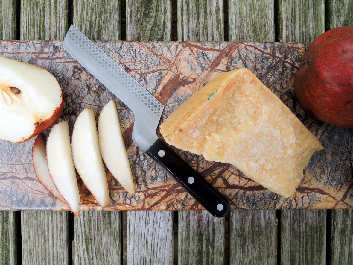 Desserts, cheese and fruit, pears and Parmigiano-Reggiano 2