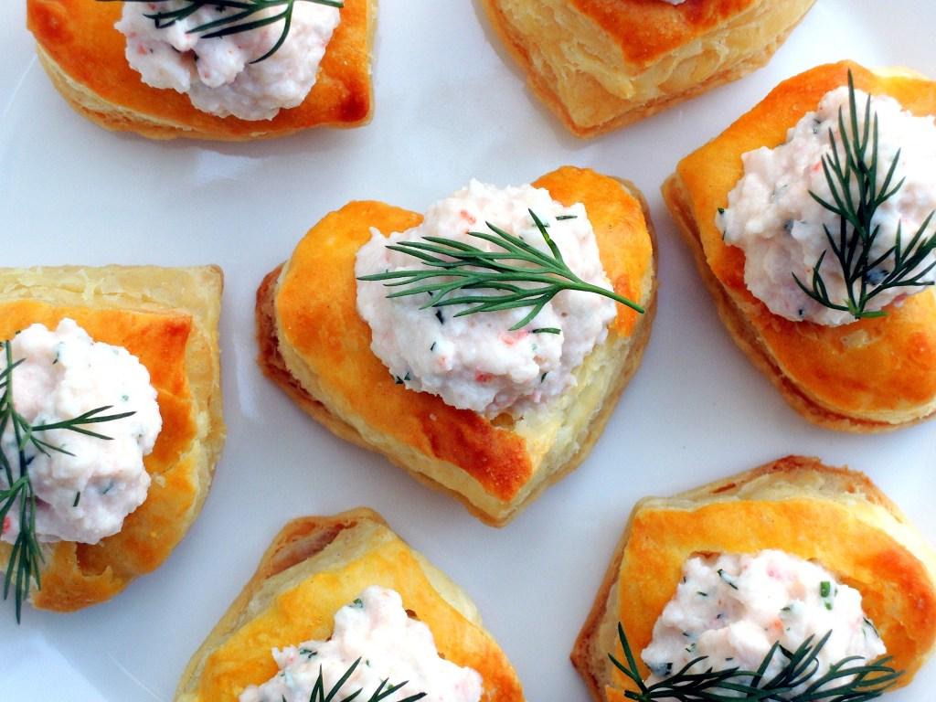 Appetizers, puff pastry, miniature vol au vents with shrimp paste filling 2
