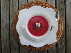 13a. Soups, vegetable, beet and fennel soup 1