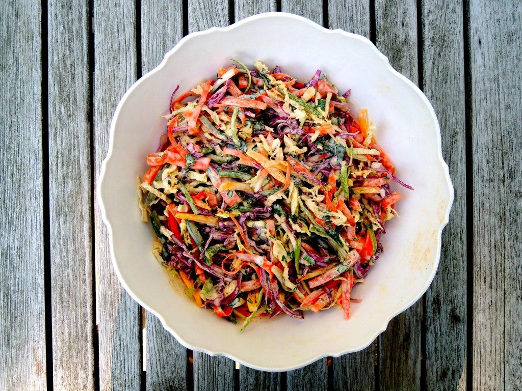 Salads, slaw, confetti coleslaw 1