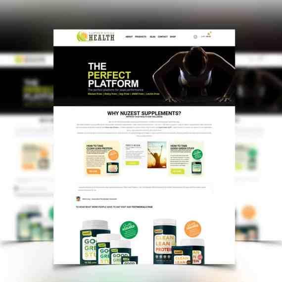 image of ecommerce website design done for SR Health