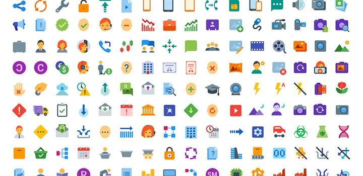 Cкачать 300+ бесплатных flat иконок SVG