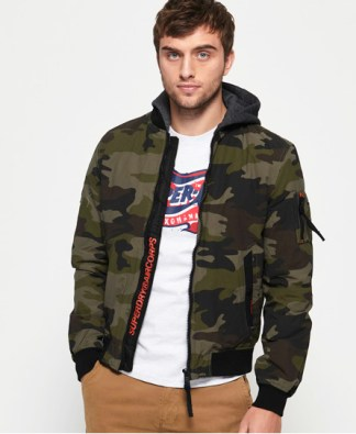 Superdry Superdry Hooded Air Corps Bomber Jacket
