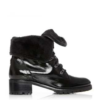 Moda In Pelle Balmet Black Patent Leather