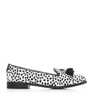 Moda In Pelle Elive White Black Leopard Pony