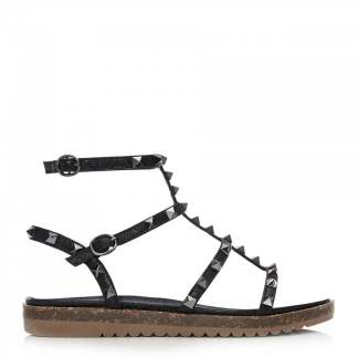 Moda In Pelle Naino Black Metallic