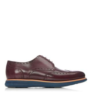 Moda Man Barnsley Burgundy Leather