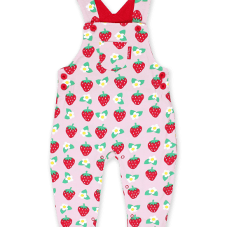 Toby Tiger Strawberry Dungarees