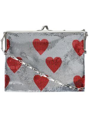 Red Hearts Pixel Frame 1969 Mesh Bag