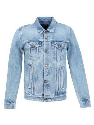 Cashmere Patch Denim Jacket