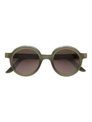 Joca Round Sunglasses, Olive Green