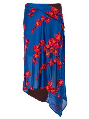 Jacquard Jersey Asymmetrical Skirt