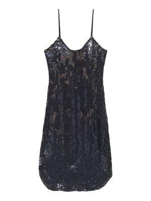 Black Sequin Camisole Dress