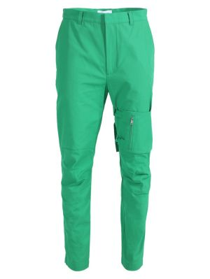 Pocket Strap Pants Green